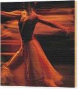 Portrait Of A Ballet Dancer Bathed Wood Print by Michael Nichols