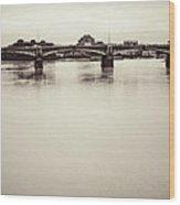 Portrait Of A London Bridge Wood Print