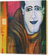 Portrait Of A Man 3 Wood Print by Emilio Lovisa