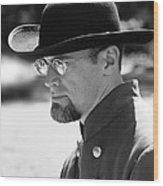 Portrait Of A Man Anniversary Of The American Civil War Mosby House Lawn Warrenton Virginia Wood Print