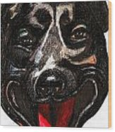 Portrait Of A Pooch Wood Print