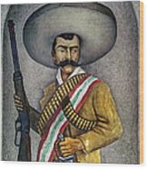Portrait Of A Zapatista Wood Print