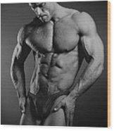 Portrait Of An Athlete Wood Print by Albert Smirnov