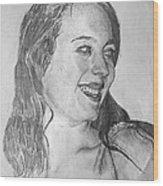portrait of Angela Wood Print