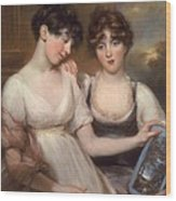Portrait Of Anne And Maria Russell Wood Print