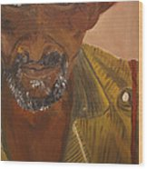Portrait Of Beke Calebasse Haiti Wood Print
