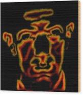 Portrait Of Dali Wood Print