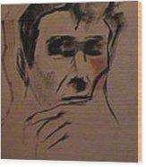 Portrait Of Frank Frazetta Wood Print