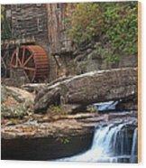 Portrait Of Glade Creek Mill Wood Print