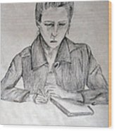 Portrait Of Haley Golz Wood Print