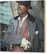 Portrait Of Kurupt Wood Print