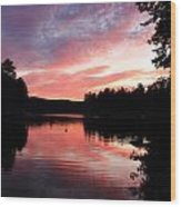 Portrait Of Lake Waukewan Wood Print