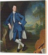 Portrait Of Man Wood Print by George Romney