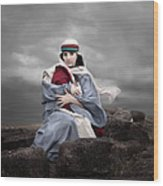 Portrait Of Mary Wood Print by Cindy Singleton