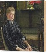 Portrait Of Mrs Ralph Sneyd Wood Print