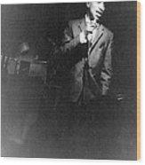 Portrait Of Sammy Davis, Jr. 1925-1990 Wood Print