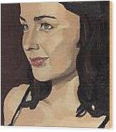 Portrait Of Solomia Wood Print