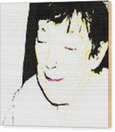 Portrait Of Tears 1 Wood Print