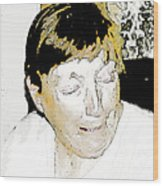 Portrait Of Tears 2 Wood Print