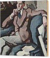 Portrait Of Willie Peploe Wood Print