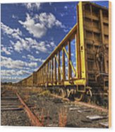 Portsmouth Rail Cars Wood Print