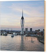 Portsmouth Waterfront Wood Print
