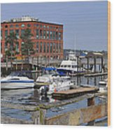 Portsmouth Waterfront Pwp Wood Print