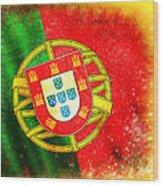 Portugal Flag  Wood Print