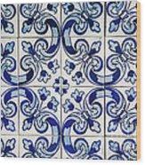 Portuguese Azulejo Wood Print