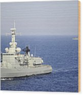 Portuguese Navy Frigate Nrp Bartolomeu Wood Print