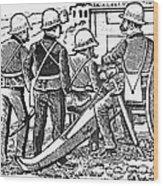 Posada: The Artillerymen Wood Print