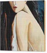 Posing Nude Wood Print