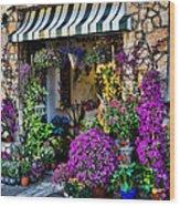 Positano Flower Shop Wood Print