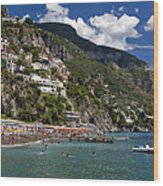 Positano Seaside Wood Print