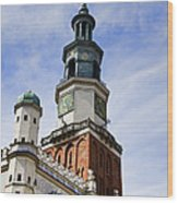 Posnan Poland Clock Tower Wood Print
