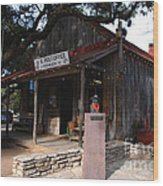 Post Office In Luckenbach Texas Wood Print