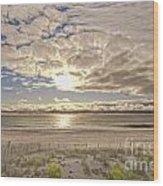 Post-tourist Sunrise Ocean City Wood Print