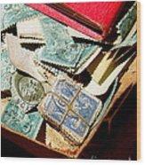 Postage Stamps Wood Print
