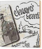 Postcard From War Wood Print