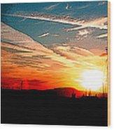 Poster Sunset Wood Print