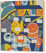 Poster: Toys, C1940 Wood Print