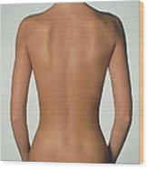 Posterior View Of The Torso Of A Standing Woman Wood Print