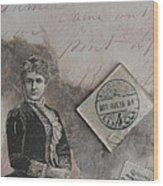 Postmark Budapest Wood Print