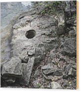Pot Hole In Niagara River Wood Print