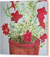 Pot Of Flowers Two Wood Print