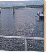 Potomac River Dock Wood Print