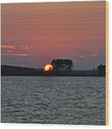 Potomac Sunrise Wood Print