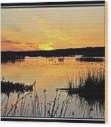 Potter Marsh Sunset Wood Print
