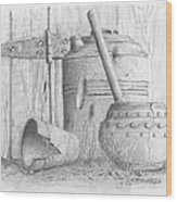 Potting Shed Wood Print by Jim Hubbard