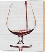 Pouring Wine Wood Print by Michal Boubin